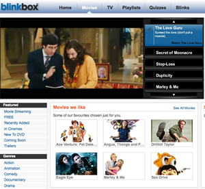 BlinkBox offers paid-for streaming of TV and Films using Flash